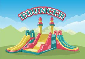 Colorful Bouncer For Kids Vector Illustration
