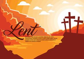 Lent Vector Background