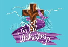 Ash Wednesday. Holy Week. The Time of Lent. Handdrawn vector