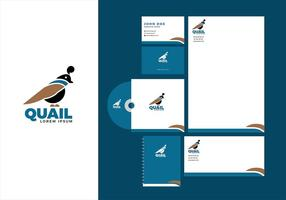 Quail Corporate Identity Template Gratis Vector