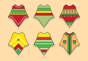 Mexican Poncho Vector