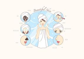 Pimple Treatment Infographic Vector