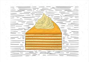 Mano libre dibujado Vector Piece of Cake Ilustración