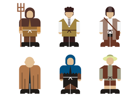 Peasant Character Design Vector