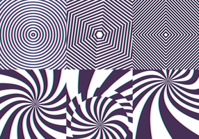 Psychedelic Pattern Seamless med Stripes och Twist Vector