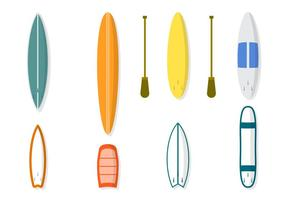 Flat Surfboard Vectors