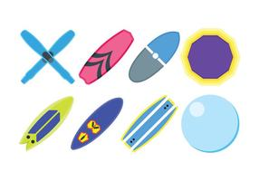 Water sport related set icons vector