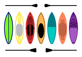 vecteur paddleboard