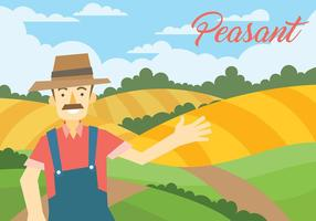 Peasant Vector Illustration