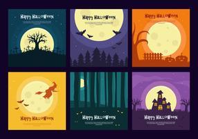 Happy Halloween Vector Backgrounds
