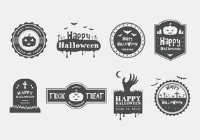 Happy Halloween Vector Badges