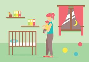Illustration vectorielle baby-sitter