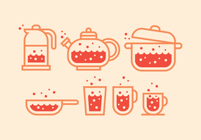 Boiling Water Icons