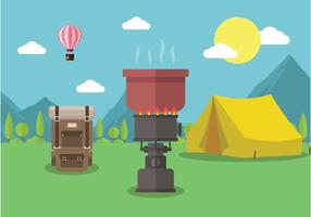 Cooking Outdoor Free Vector