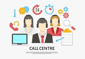 Gratis Moderne Call Center Vector