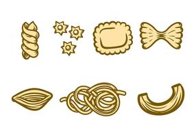 Macaroni pictogram vector