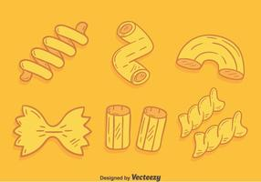Handdragen Macaroni Collection Vector