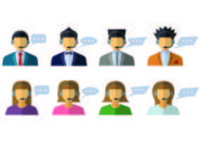 Call Centre Operator Icons