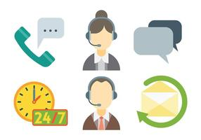 Call Center Vector Pictogrammen