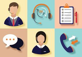 Call Centre Vector Pack