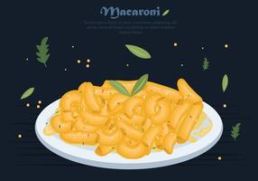Macaroni Pasta With Creamy Sauce Vector