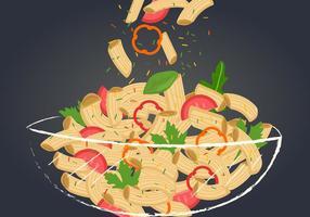 Un tazón de macarrones Pasta Vector