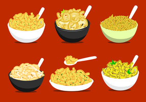 Delicious Macaroni Vector