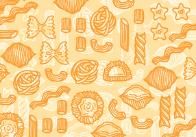 Macaroni pasta vector pattern