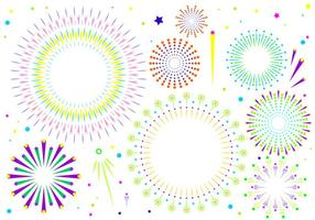 Fireworks White Background Free Vector