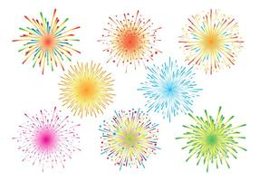 Fireworks White Background