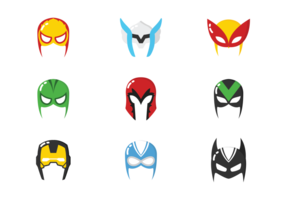 Vectores de la máscara del héroe estupendo