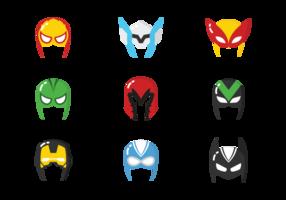 vecteurs de masques de superhéros