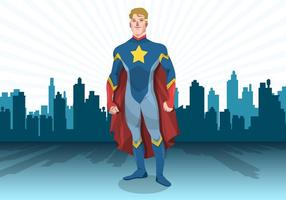 Standing Superhero Vector