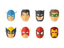 Super Heroes Mask Vector