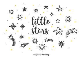 lilla stjärnor vektor uppsättning