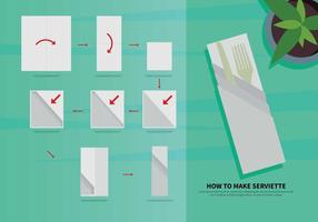 Illustration de guide de serviettes gratuit