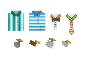 Vettore libero degli uomini vestiti e degli accessori