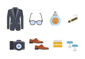 Flat Gentleman Essential Vectors