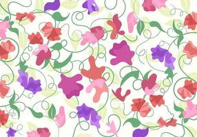 Sweet Pea Pattern Vector
