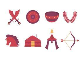 Libre Mongol Iconos Vectoriales