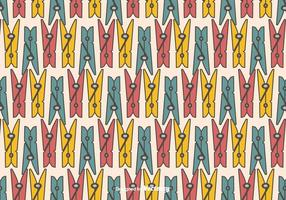 Clothes Pins Vector Pattern
