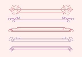 Vector Cute Dividers