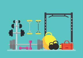 Workout Equipment Gratis Vector