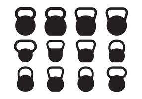 Kettle Bell Silhouette Vectors