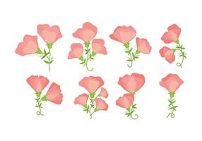 Sweet Pea Icon Set