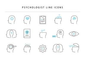 Psychologist Line Icons