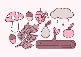 Vektor söta höstelement