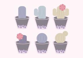 Vector Cute Cacti Set