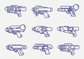 Kids Watergun Lineart Pack