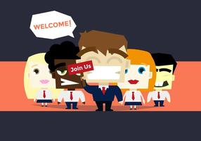 Bli med oss ​​Business Team Job Illustration Vector
